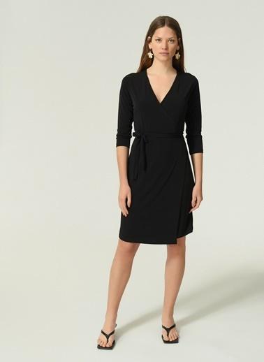 NGSTYLE Kadın Örme Kruvaze  Elbise NGKAW20EL0033 Siyah